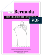 2015 Cruise Ship Schedule