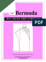 2015 Cruise Ship Schedule