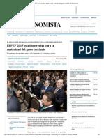17-11-14 El PEF 2015 Establece Reglas Para La Austeridad Del Gasto Corriente