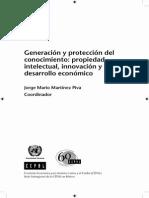CEPAL 2008 Generación y Protección Del Conocimiento Propiedad Intelectual, Innovación y Desarrollo Económico.