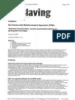 Artikel Community Reinforcement Approach in Het Blad Verslaving