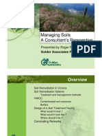 Managing Soils a Consultant's Perspective