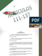 articulo de la constitución  del 11 al 37