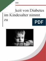 Häufigkeit Von Diabetes Im Kindesalter Nimmt Zu