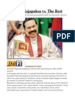 Mahinda Rajapaksa vs. the Rest
