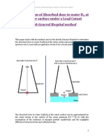 Determination of Absorbed dose to water Dw at the water surface under a Lead Cutout.pdf