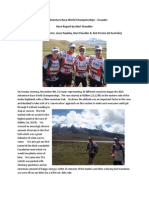 Race Report 2014 Adventure Race World Championships in Ecuador