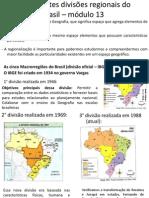 As Diferentes Divisões Regionais Do Brasil – Módulo