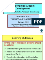 Lecture #1 & 2 the Dynamic Earth