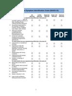 Behavioural and Symptom Identification Scale