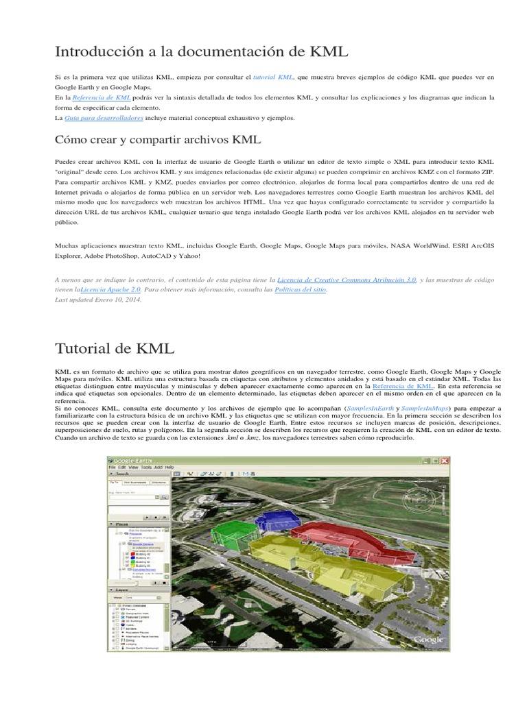 Introducción a la documentación de KML docx