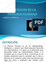 Dimension de La Persona Humana