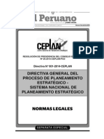 Directiva General CEPLAN