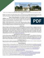 Jumaa Prayer Bulletin 28 November 2014