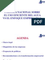 Política Nacional Sobre Uso Eficiente Del Agua vs Enfoque Emp
