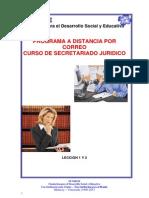 Leccio secretariado juridicon 1 y 2 Secretariado Juridico