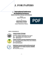 CALL FOR PAPERS 13 th International Conference On Statistical Sciences