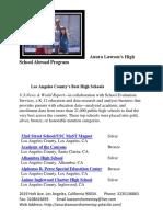 anura lawsons high school abroad list of top high schools in los angeles