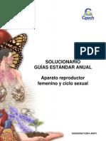 (13)2014 Solucionario Guía Aparato Reproductor Femenino y Ciclo Sexual