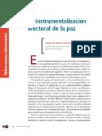La Instrumentalización Electoral de La Paz