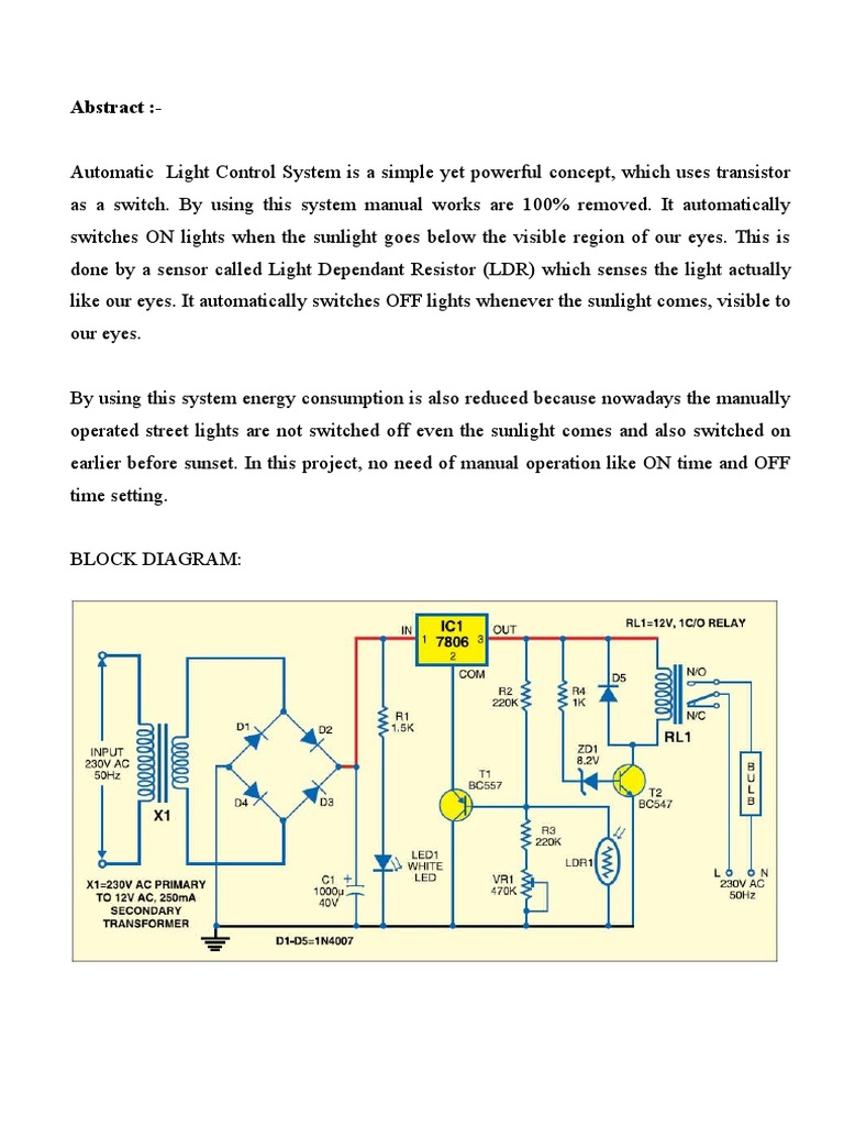 automatic light control system