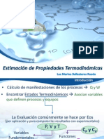 Estimación de Propiedades Termodinámicas