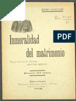 Rene Chaughi. Inmoralidad Del Matrimonio - GÉNERO