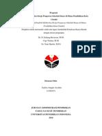 Proposal Analisis Efektivitas Kerja Pengawas Sekolah Dasar