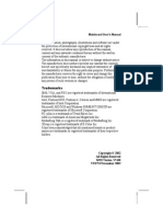 PCChips M922U (V5.0) (User Manual)