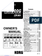 Toneworks Ax1500g Owners Manual