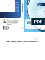 Applying Total Quality Management concepts to land administration