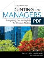 Accounting for Managers Canadian Edition