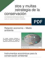 Impuestos y Multas Como Estrategia de La Conservación