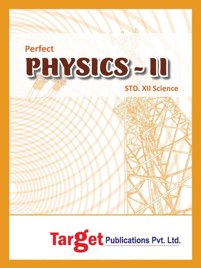 Maharashtra HSC Physics Paper 2- Target | Light | Refraction