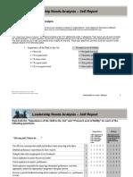 Leadership Needs Analysis - Self (Ddi)
