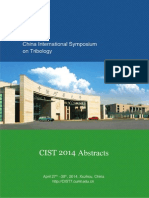 Abstracts CIST2014