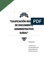 Calificacion Registral de Acto Administrativo Ilicito