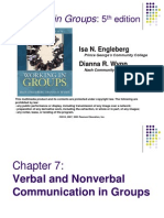 verbal and nonverbal comunication in groups