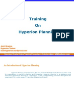 Hyperion Planning Introduction