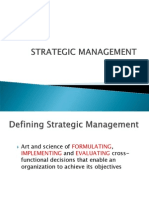 Strategic Management - Introduction