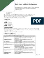 CCENT Lab 1 Basic IOS Configurations