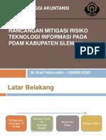 Rancangan Mitigasi Risiko Teknologi Informasi Pada Pdam Kabupaten