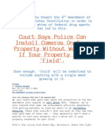 111777569 Court Says Police Can Install Cameras on Your Property Without a Warrent if It is a Field PDF