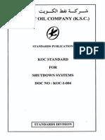 KOC-I-004 Shut Down System