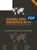 Global Social, Digital & Mobile Statistics, Jan 2014