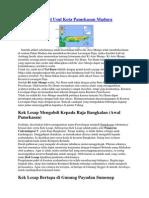 Sejarah Dan Asal Usul Kota Pamekasan Madura