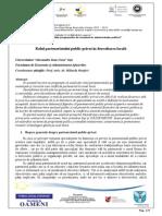 Rolul Parteneriatului Public Privat in Dezvoltarea Locala (1)