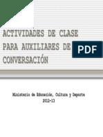 2012 Actividades Para Clase en Escuelas Oficiales de Idiomas