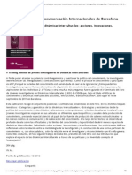 Políticas de Conocimiento y Dinámicas Interculturales_ Acciones, Innovaciones, Transformaciones _ Monografías _ Monografías _ Publicaciones _ CIDOB Home Page