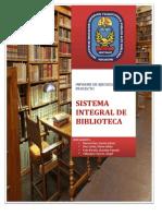 Informe de Proyecto Biblioteca Integral